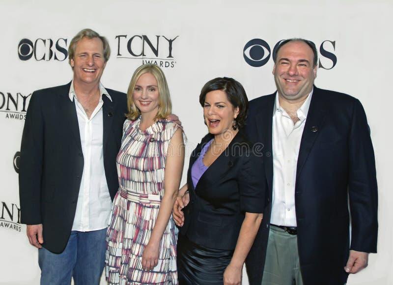 Jeff Daniels, Hope Davis, Marcia Gay Harden och James Gandolfini royaltyfri fotografi