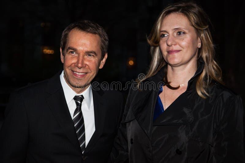Jeff en Justine Koons royalty-vrije stock foto