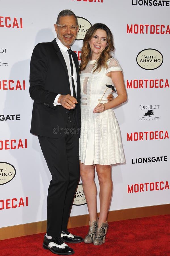 Jeff Goldblum & Carly Steel fotografia stock