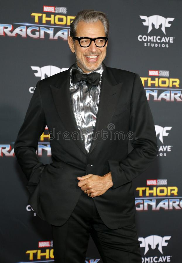 Jeff Goldblum. At the World premiere of `Thor: Ragnarok` held at the El Capitan Theatre in Hollywood, USA on October 10, 2017 royalty free stock images