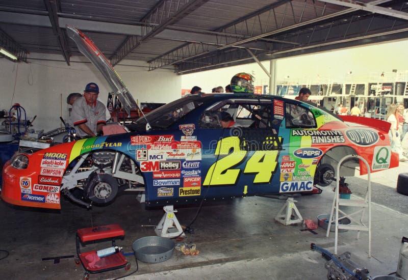 Jeff Gordon NASCAR legend fotografering för bildbyråer