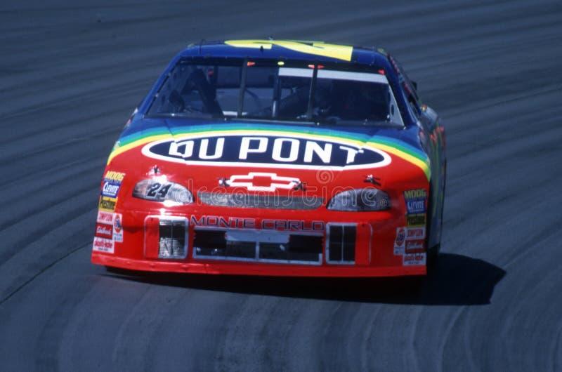 Jeff Gordon NASCAR racerbilchaufför royaltyfria foton