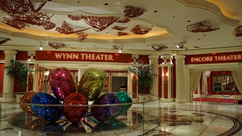 Jeff Koons Tulips Sculpture en el Wynn en Las Vegas foto de archivo