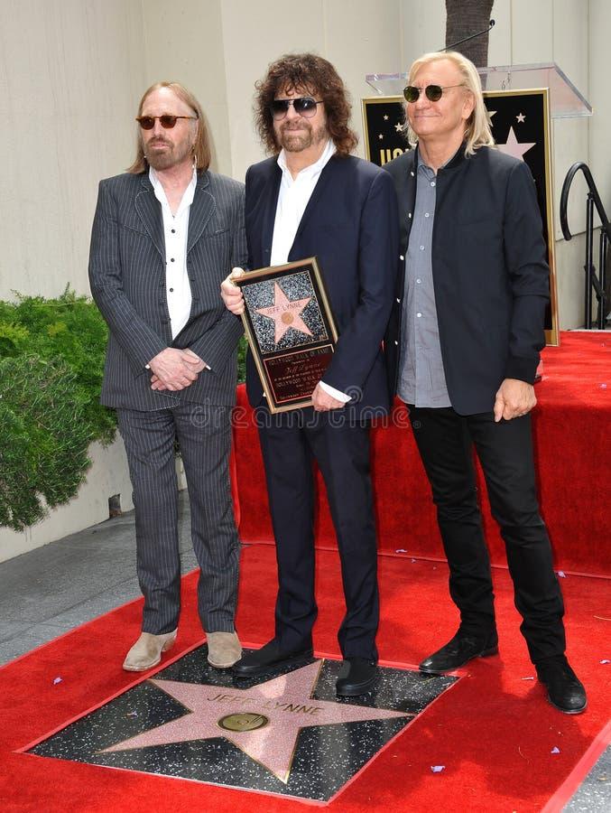 Jeff Lynne et Tom Petty et Joe Walsh images libres de droits