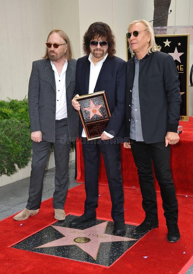Jeff Lynne & Tom Petty & Joe Walsh immagine stock