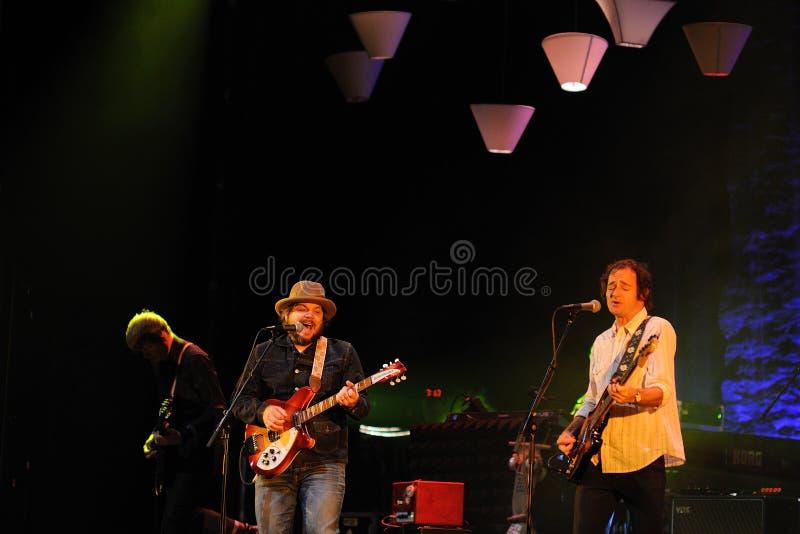 Jeff Tweedy ledningssångare av Wilco arkivfoto