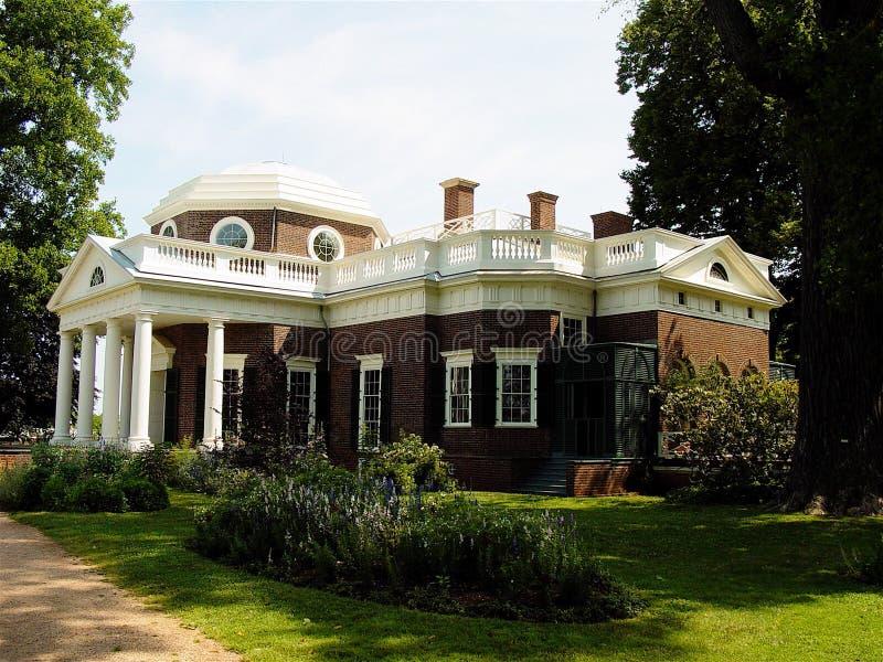 Jefferson's Monticello royaltyfri bild