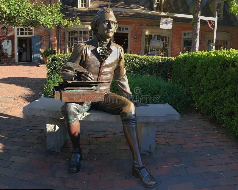 jefferson άγαλμα Thomas στοκ φωτογραφία με δικαίωμα ελεύθερης χρήσης