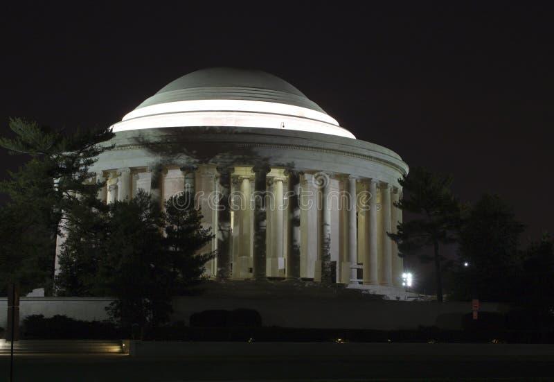 jefferson αναμνηστική νύχτα στοκ φωτογραφία με δικαίωμα ελεύθερης χρήσης