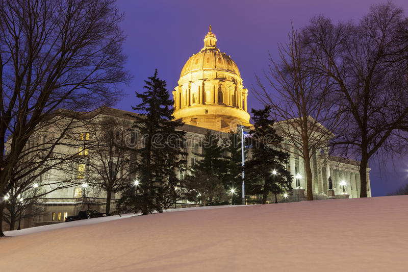 Jefferson City, Missouri - entrance to State Capitol Building. Jefferson City, Missouri, USA stock photo
