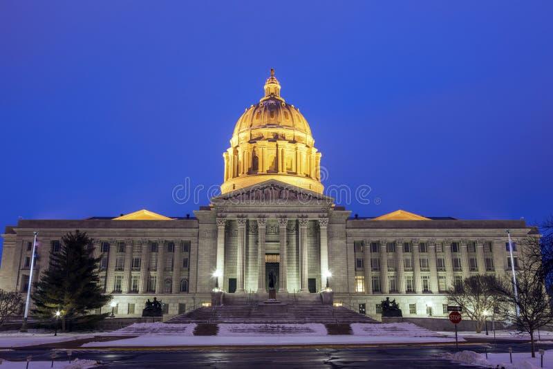 Jefferson City Missouri - ingång som påstår Kapitoliumbyggnad arkivfoton