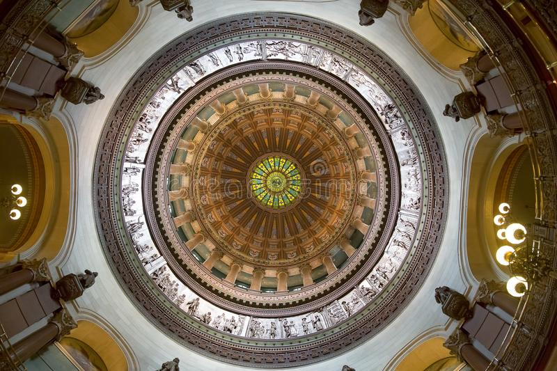 Jefferson City, Missouri - June 14, 2017: Photo of the rotunda i royalty free stock images