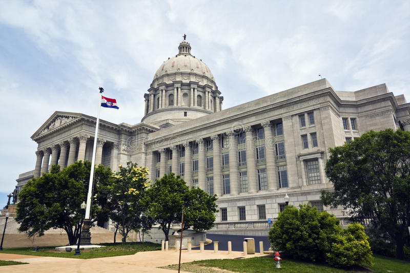 Jefferson City, Missouri - State Capitol. State Capitol of Missouri in Jefferson City royalty free stock photography