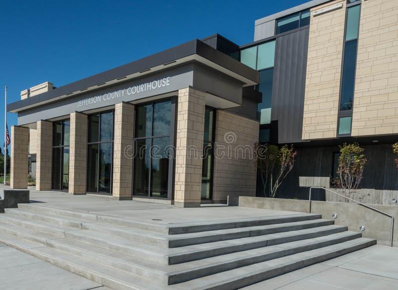 Jefferson County-gerechtsgebouw in Madras Oregon royalty-vrije stock fotografie