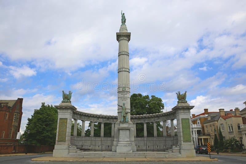 Jefferson Davis zabytek 2, Richmond, Virginia fotografia stock