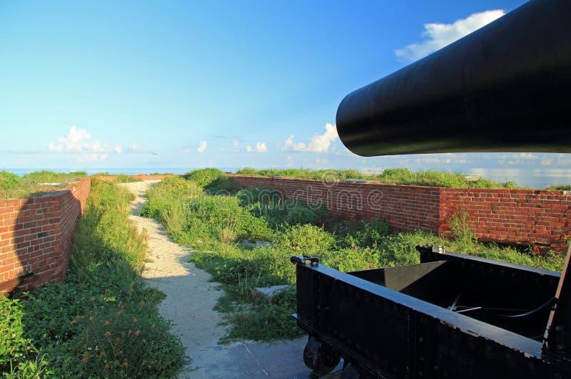 Jefferson forte Rodman Artillery Piece a 15 pollici fotografie stock libere da diritti