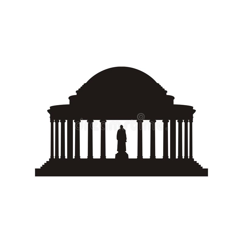 Jefferson herdenkingssilhouet royalty-vrije illustratie