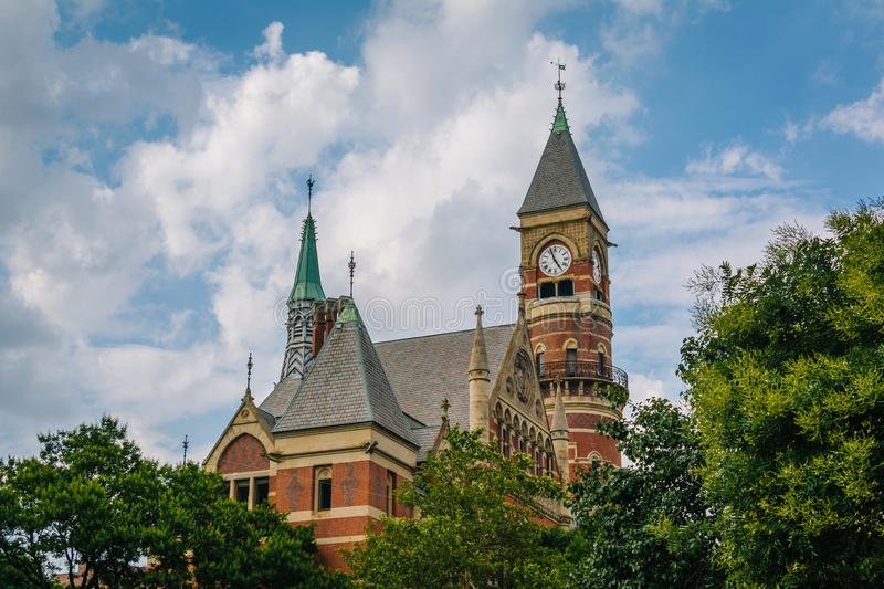 Jefferson Market Library, in Greenwich Village, Manhattan, New York City.  royalty free stock images