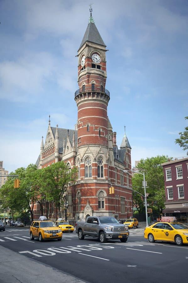 Jefferson Market Library New York City. NEW YORK - MAY 17, 2015: Jefferson Market Library in New York. The Jefferson Market Library is a landmark located in royalty free stock photography
