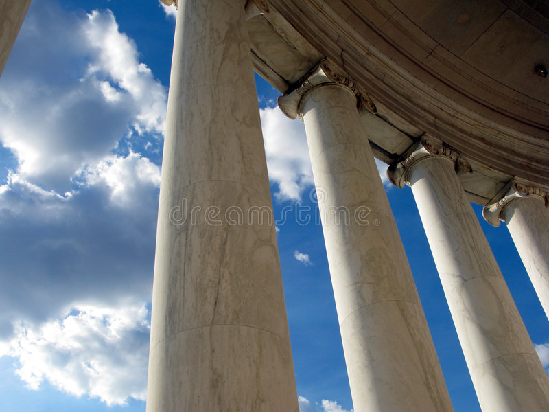 Jefferson Memorial Columns in Washington DC stock photography