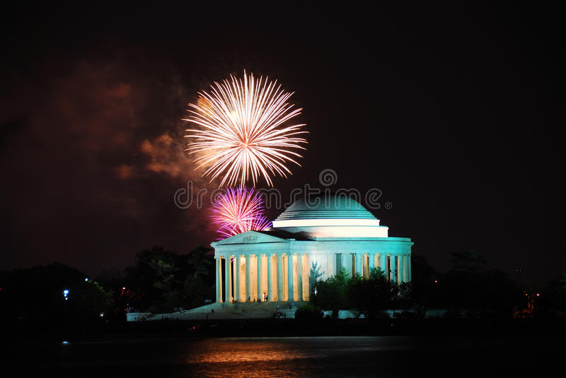 Download Jefferson Memorial With Fireworks, Washington DC Stock Photography - Image: 13935882