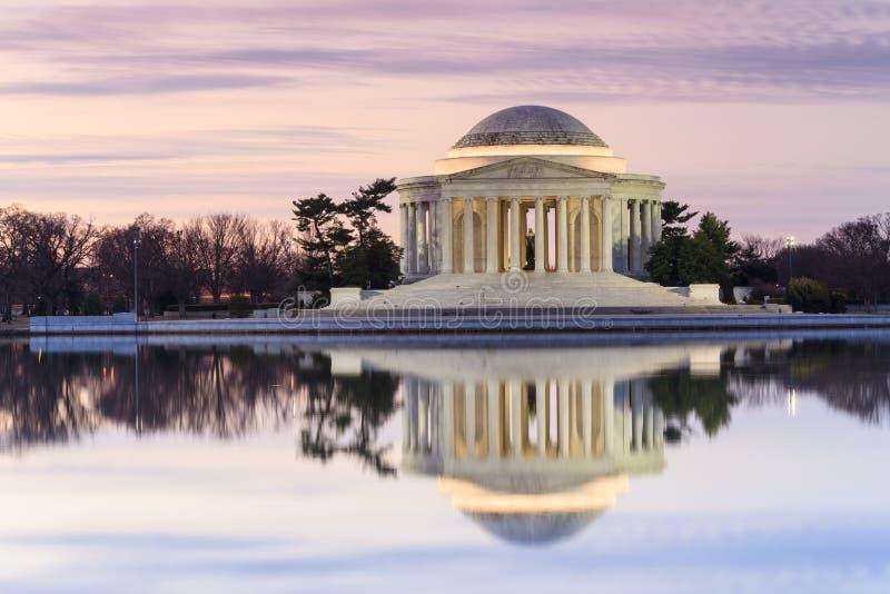 Jefferson Memorial Front View Washington gelijkstroom royalty-vrije stock afbeeldingen