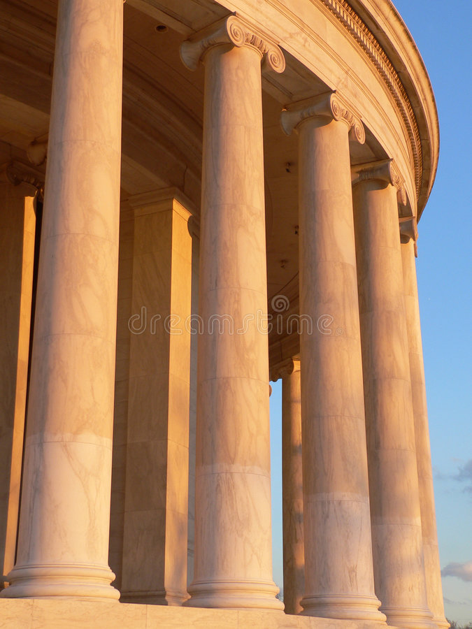 Jefferson memorial kolumny obrazy stock