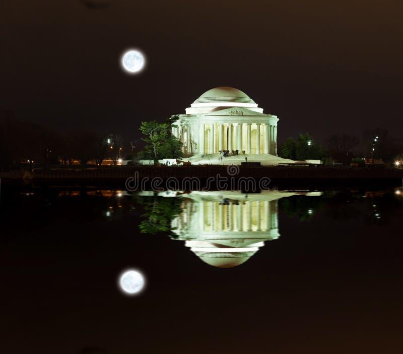 Jefferson Memorial na noite fotos de stock royalty free