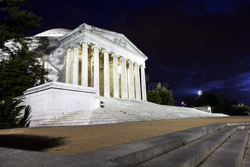 Jefferson Memorial na noite foto de stock royalty free