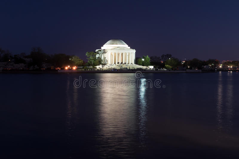 Jefferson Memorial no por do sol - Washington D C fotos de stock