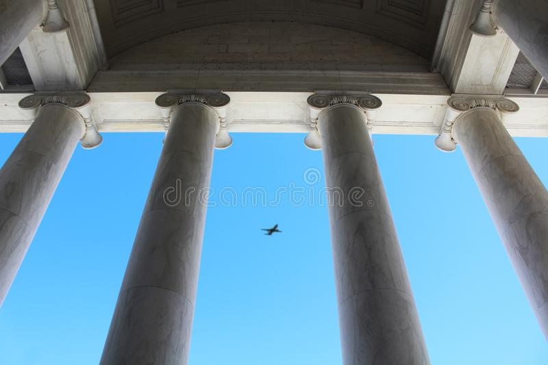 Jefferson Memorial Pillars images stock