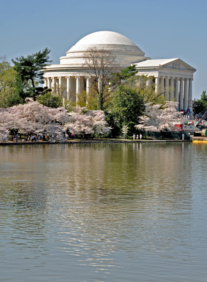 Jefferson Memorial On The Tidal Basin Royalty Free Stock Photos