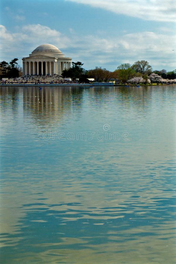 Jefferson Memorial Tidal Basin photo stock