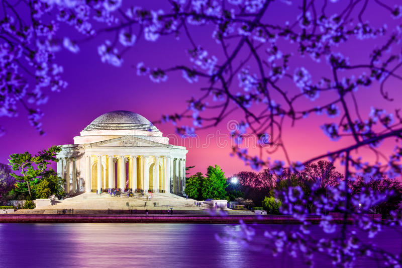 Jefferson Memorial. Washington, DC at the Jefferson Memorial during spring stock images