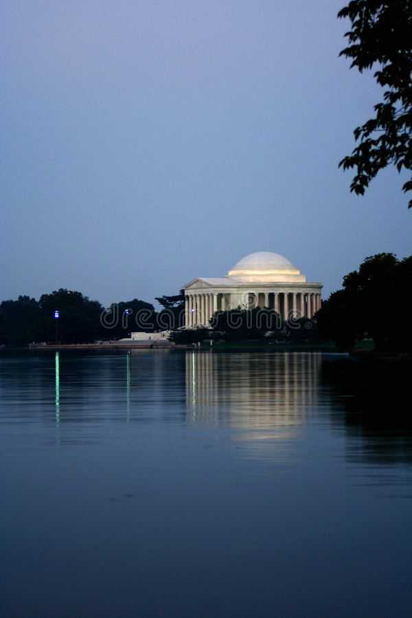 Jefferson memorial zmierzchu obraz royalty free