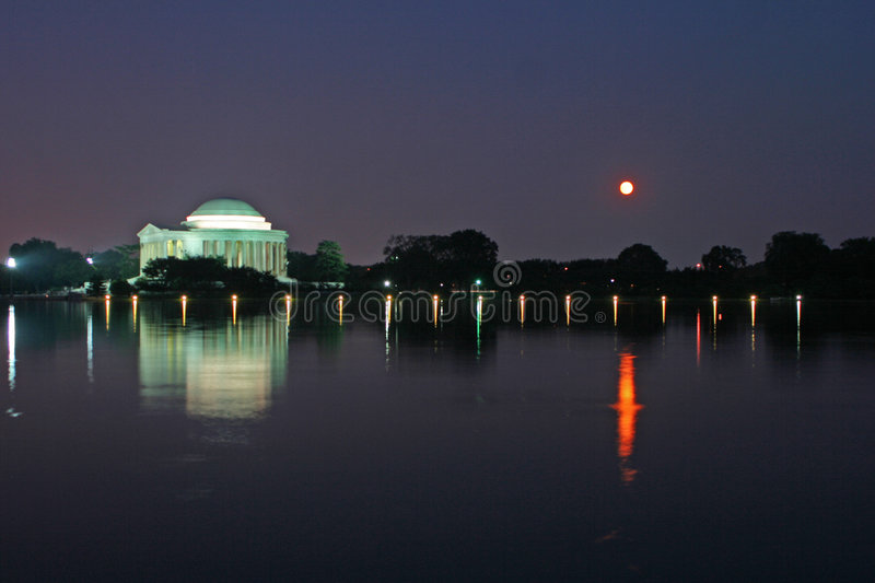 Jefferson memorial zmierzchu fotografia royalty free