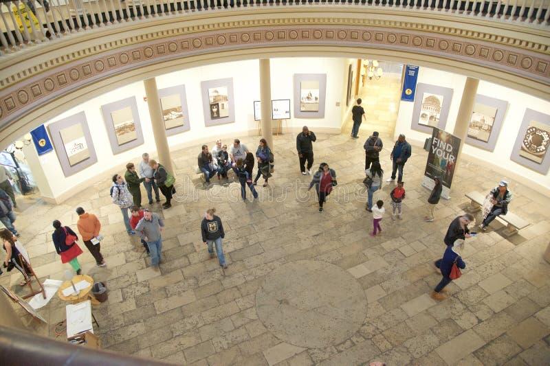 Jefferson National Expansion Memorial Atrium, St Louis Missouri foto de archivo libre de regalías