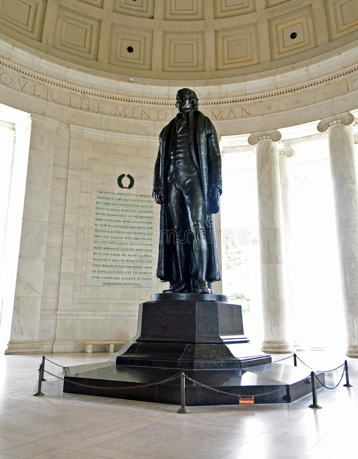 jefferson staty thomas royaltyfria bilder