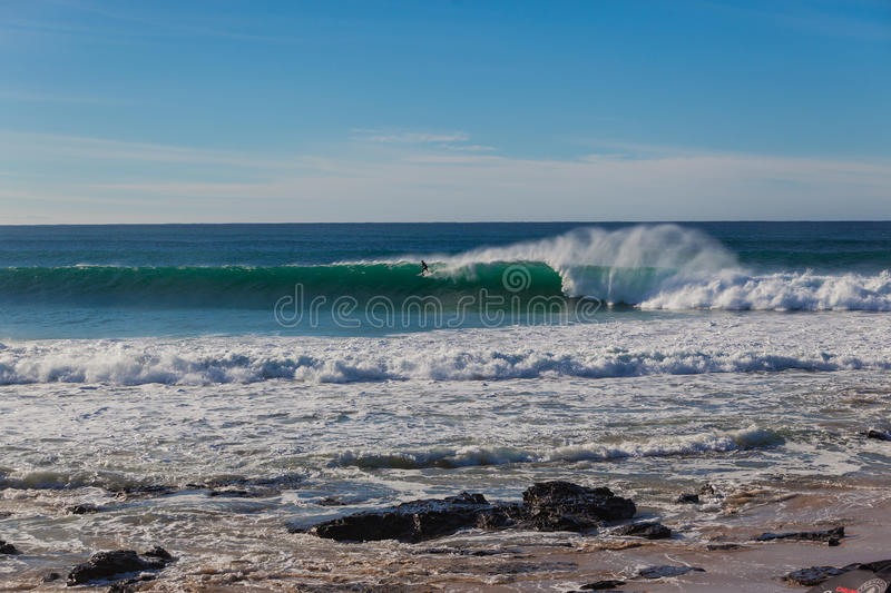Download Jeffreys Bay Surfer Wave Wall Long Editorial Photography - Image: 26620372