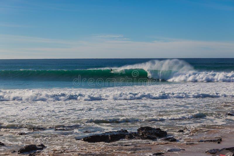 Jeffreys Schacht-Surfer-Wellen-Wand lang stockfotografie