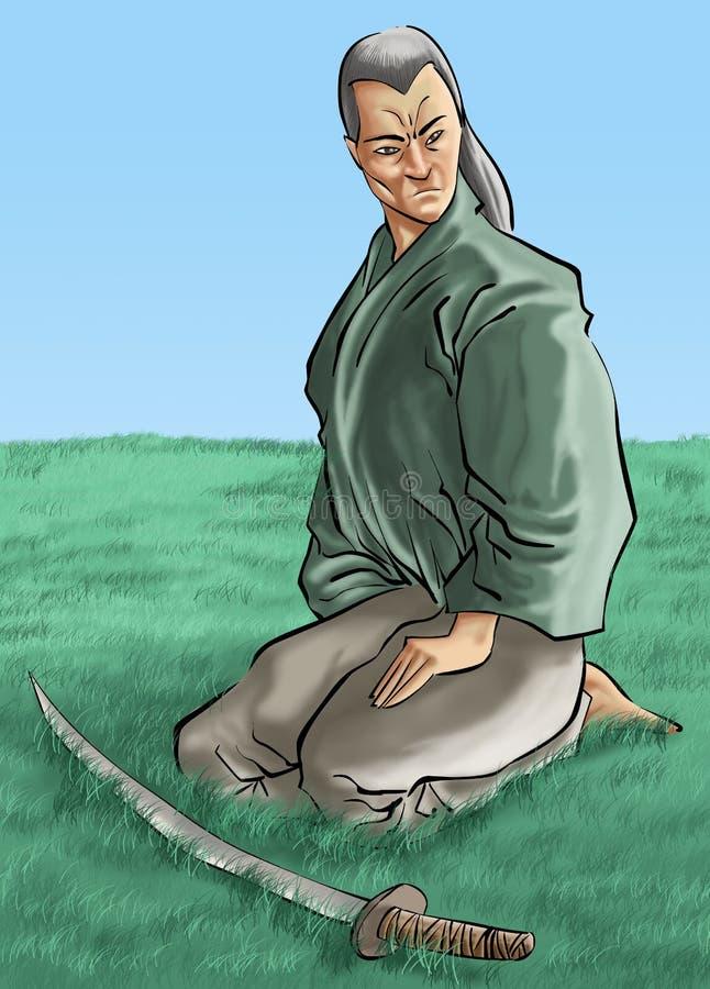 jego katana samuraja. royalty ilustracja