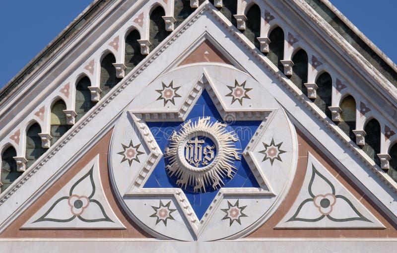 JEGO szyldowy, bazyliki Di Santa Croce Święty krzyż w Florencja bazylika fotografia royalty free