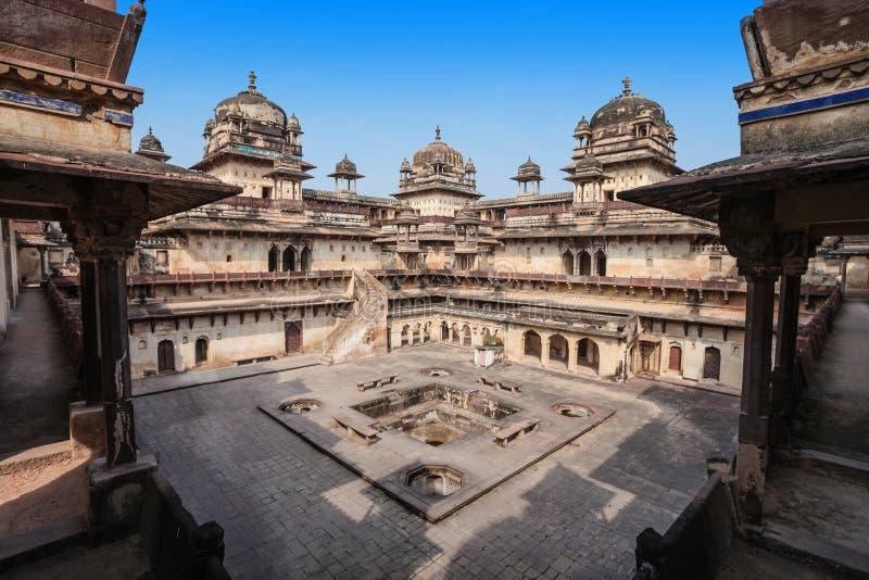 Jehangir Mahal (форт Orchha) в Orchha стоковые изображения
