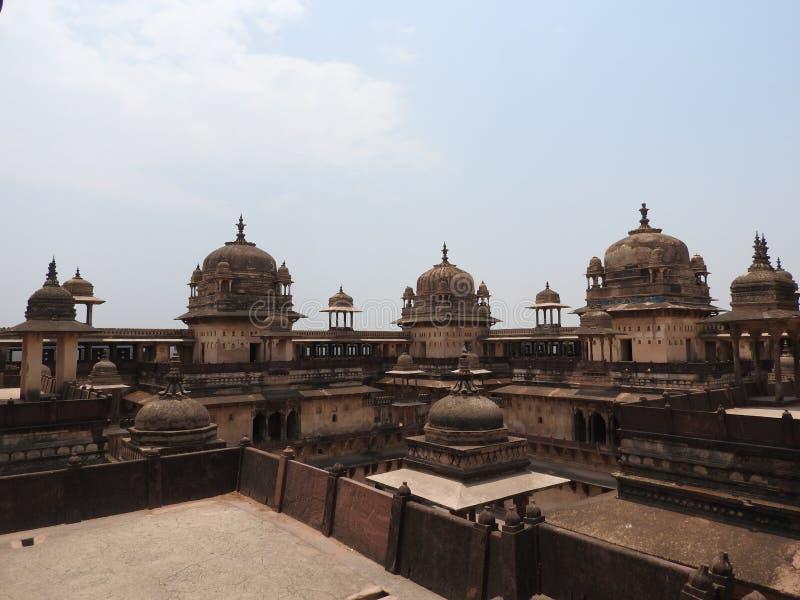 The Jehangir Mahal, Orchha Fort, Religia Hinduism, ancient architecture, Orchha, Madhya Pradesh, India stock photos
