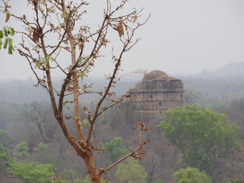 The Jehangir Mahal, Orchha Fort, Religia Hinduism, ancient architecture, Orchha, Madhya Pradesh, India royalty free stock photos