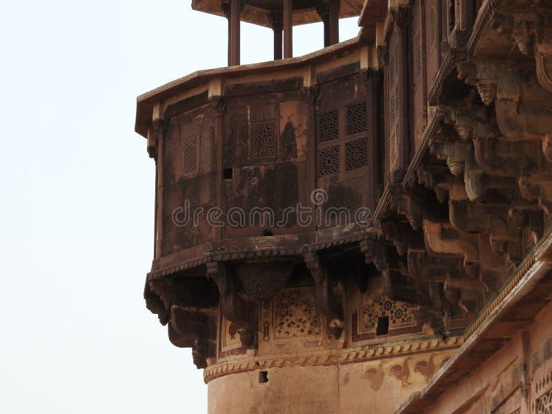 The Jehangir Mahal, Orchha Fort, Religia Hinduism, ancient architecture, Orchha, Madhya Pradesh, India royalty free stock photo