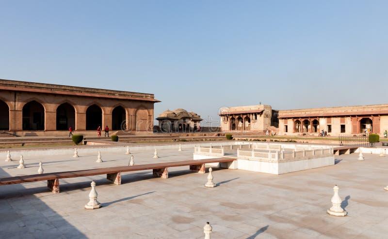 Jehangir`s Quadrangle in the Lahore Fort, Lahore. Punjab, Pakistan. UNESCO World Heritage Cite stock photo
