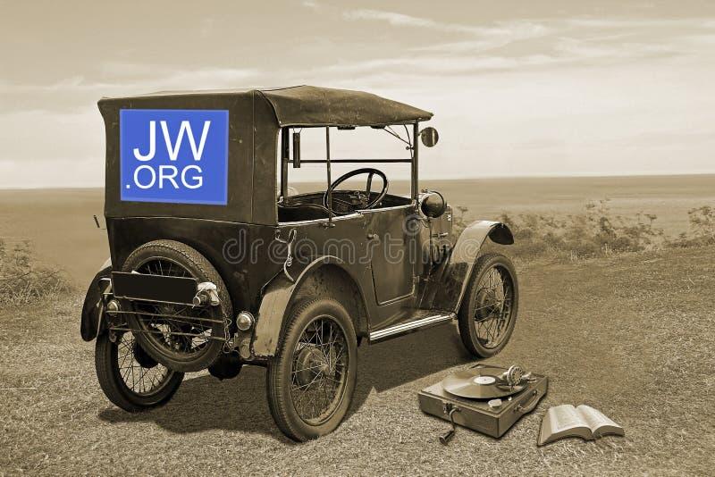 Jehovahs目击过去和现在宗教 免版税库存图片