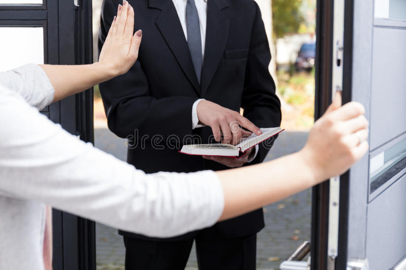 Jehowah's witness stock photography