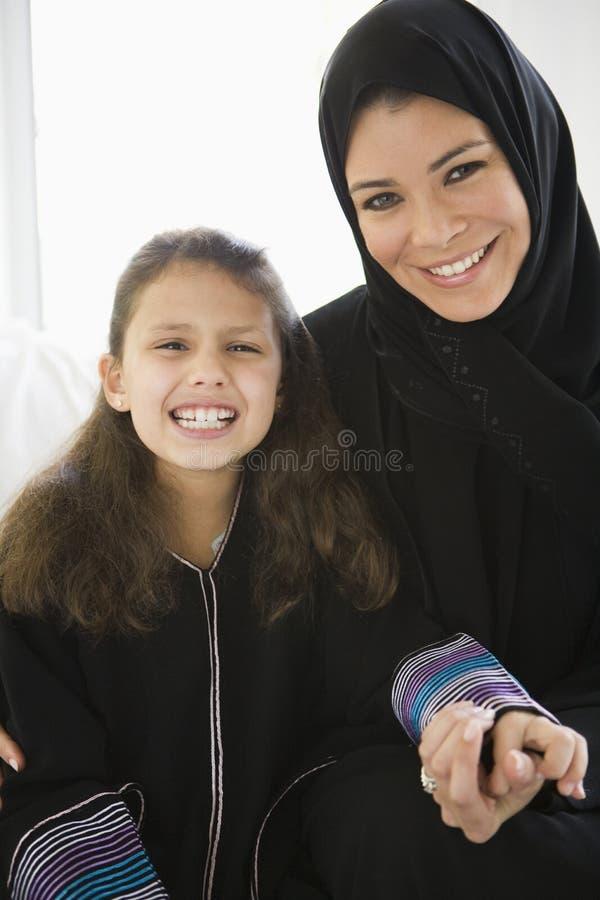 jej córka wschodniej środkowej kobieta zdjęcia royalty free